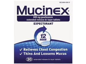 Expectorant Regular Strength, 20 Tablets/Bottle