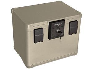 SureSeal By FireKing SS106 - Fire and Waterproof Chest, 0.60 ft3, 16w x 12-1/2d x 13h, Taupe