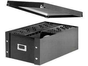 IdeaStream SNS01658 Snap-N-Store Storage Box, - Heavy Duty - Fiberboard - Black - Disc/Diskette Storage - 1 Each