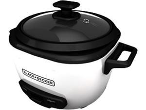 BLACK+DECKER RC516 16-Cup Cooked/8-Cup Uncooked Rice Cooker and Food Steamer, White