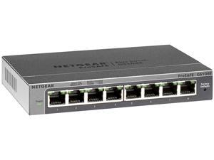 NETGEAR ProSAFE 8-Port Gigabit Web Managed (Plus) Switch (GS108E) - Lifetime Warranty