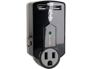 Tripp Lite SK120USB Protect It! 3-Outlet Surge Protector, Direct Plug-In, 540 Joules, 2 USB Charging Ports 2.1A