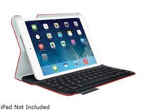 Mars Red Orange Rechargeable Ultrathin Bluetooth® Keyboard Tech Fabric Folio for iPad® mini