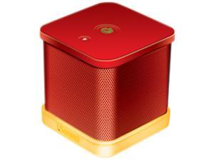 ISOUND ISOUND-6208 iGlowSound Cube Wired Portable Speaker (Red)