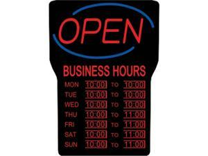 Royal Sovereign RSB-1342E LED Open Sign with Hours