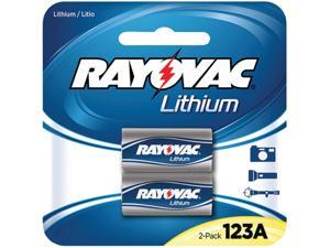 RAYOVAC RL123A-2A 3-Volt 123A Lithium Photo Batteries, 2 pk