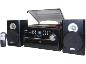 JENSEN  3-Speed Stereo Turntable with Front Loading CD Player, CD-R/RW Compatible, Cassette and AM/FM Stereo Radio