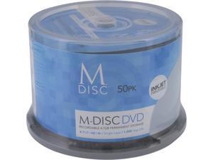 MDisc 4.7GB DVD Recordable Media - 50 Pack InkJet Printable Model MDIJ050C