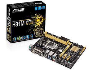 ASUS H81M-C/CSM/C/SI LGA 1150 Intel H81 SATA 6Gb/s USB 3.0 Micro ATX Intel Motherboard (Bulk Pack, 10 PCS)