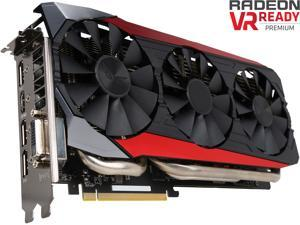 ASUS Radeon R9 390 DirectX 12 STRIX-R9390-DC3OC-8GD5-GAMING 8GB 512-Bit GDDR5 PCI Express 3.0 HDCP Ready Video Card