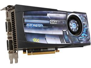 GIGABYTE GeForce GTX 470 (Fermi) DirectX 11 GV-N470D5-13I-B 1280MB 320-Bit GDDR5 PCI Express 2.0 x16 HDCP Ready SLI Support Video Card