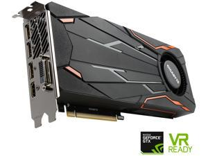 GIGABYTE GeForce GTX 1080 DirectX 12 GV-N1080TTOC-8GD 8GB 256-Bit GDDR5X PCI Express 3.0 x16 ATX Turbo OC Video Card