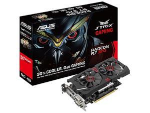 ASUS Radeon R7 370 ASUS-90YV0850-M0NA00 4GB 256-Bit GDDR5 PCI Express 3.0 x16 HDCP Ready Gaming Video Card