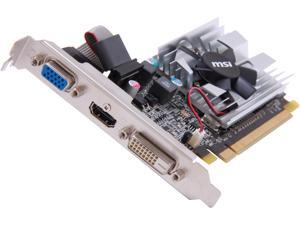 MSI Radeon HD 6450 DirectX 11 R6450-MD1GD3/LP 1GB 64-Bit DDR3 PCI Express 2.1 x16 HDCP Ready Low Profile Ready Video Card