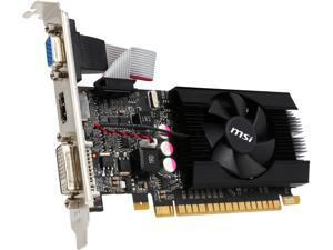 MSI N610GT-MD1GD3/LP-R GeForce GT 610 1GB 64-Bit DDR3 PCI Express 2.0 x16 HDCP Ready Video Card Certified Refurbished