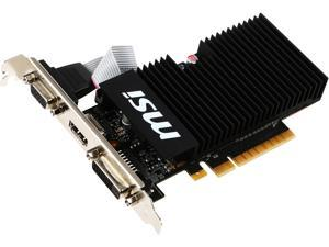 MSI GeForce GT 710 DirectX 12 GT 710 1GD3H LPV1 1GB 64-Bit DDR3 PCI Express 2.0 x 8 HDCP Ready Low Profile Video Card