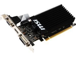 MSI GeForce GT 710 DirectX 12 GT 710 2GD3H LP 2GB 64-Bit DDR3 PCI Express 2.0 x16 HDCP Ready Low Profile Video Card