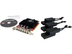 VisionTek Radeon HD 7750 900614-HDMIKIT 2GB GDDR5 PCI Express x16 Video Card w/ 6x mDP to HDMI active adapters