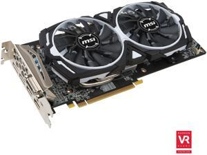 MSI Radeon RX 480 DirectX 12 RX 480 ARMOR 4G OC 4GB 256-Bit GDDR5 PCI Express 3.0 x16 HDCP Ready CrossFireX Support Video Card