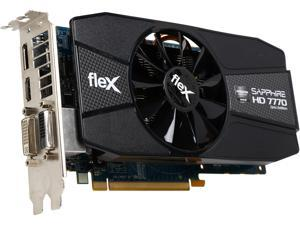 SAPPHIRE FleX Radeon HD 7770 DirectX 12 11201-96-90G 1GB 128-Bit GDDR5 PCI Express 3.0 CrossFireX Support Video Card
