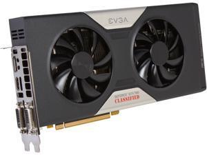 EVGA 03G-P4-3788-RX GeForce GTX 780 3GB 384-Bit GDDR5 PCI Express 3.0 SLI Support Classified w/ EVGA ACX Cooler Video Card Manufactured Recertified Certified Refurbished