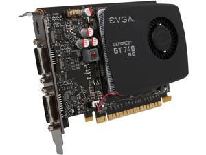 EVGA GeForce GT 740 Superclocked DirectX 12 (feature level 11_0) 02G-P4-2742-KR 2GB 128-Bit DDR3 PCI Express 3.0 Video Card