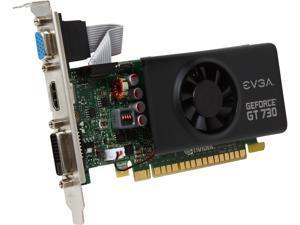 EVGA GeForce GT 730 DirectX 12 (feature level 11_0) 02G-P3-3733-KR 2GB 64-Bit GDDR5 PCI Express 2.0 Low Profile Ready Video Card