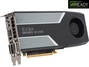 EVGA GeForce GTX 970 04G-P4-1972-KR 4GB SC GAMING, Silent Cooling Graphics Card