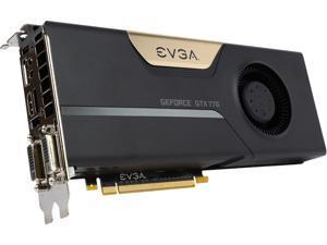 EVGA GeForce GTX 770 DirectX 12 (feature level 11_0) 02G-P4-2771-RX 2GB 256-Bit GDDR5 PCI Express 3.0 x16 SLI Support SuperClocked Video Card