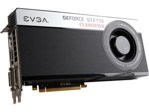 EVGA GeForce GTX 770 DirectX 11.1 04G-P4-3777-RX 4GB 256-Bit GDDR5 PCI Express 3.0 SLI Support Video Card