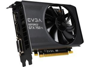 EVGA GeForce GTX 750 Ti DirectX 11.2 02G-P4-3751-RX 2GB 128-Bit GDDR5 PCI Express 3.0 Video Card