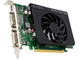 EVGA GeForce GT 730 DirectX 12 (feature level 11_0) 02G-P3-2738-RX 2GB 128-Bit DDR3 PCI Express 2.0 Video Card