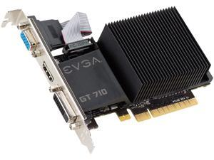 EVGA GeForce GT 710 DirectX 12 01G-P3-2710-KR 1GB 64-Bit DDR3 PCI Express 2.0 Video Card
