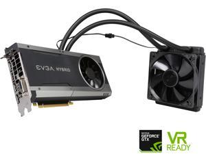 EVGA GeForce GTX 1070 FTW HYBRID GAMING, 08G-P4-6278-KR, 8GB GDDR5, RGB LED, All-In-One Watercooling with 10CM FAN, 10 Power Phases, Double BIOS, DX12 OSD Support (PXOC)