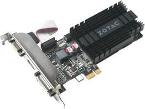 ZOTAC GeForce GT 710 DirectX 12 ZT-71304-20L 1GB 64-Bit DDR3 PCI Express x1 HDCP Ready Video Card