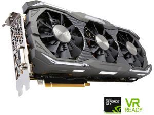 ZOTAC GeForce GTX 1070 AMP! Extreme, ZT-P10700B-10P, 8GB GDDR5 IceStorm Cooling, Metal Wraparound Carbon ExoArmor exterior, Dual-blade EKO Fan, Spectra Lighting, PowerBoost, FREEZE fan stop