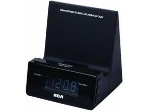 Dual Wake Alarm Clock with USB Charging Stand