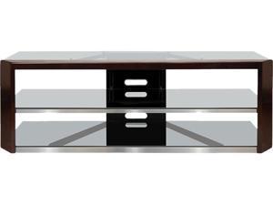 "Bello AVSC2164 Dark Espresso Wood Frame Audio/Video TV Stand for 65"" LED, LCD TV, max load 125lb"