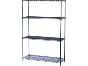 Safco 5291BL 4 Shelves Industrial Wire Shelving Starter Kit
