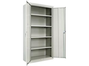 "Alera ALE82107 Assembled 72"" High Storage Cabinet, w/Adjustable Shelves, 36w x 18d, Light Gray"