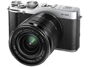 FUJIFILM X-M1 16391516 Silver Premium Interchangeable Lens Camera w/16-50mm XC Lens