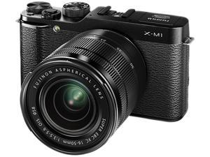 FUJIFILM X-M1 16390952 Black Premium Interchangeable Lens Camera w/16-50mm XC Lens