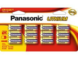 Panasonic CR123A Lithium Batteries 12-Pack