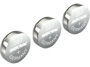 RAYOVAC 303/357-3ZMA 1.5-Volt 303/357 Silver Watch/Electronic Battery, 3 pk