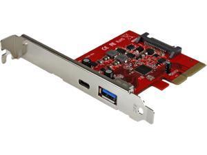 StarTech PEXUSB311A1C 2-Port USB 3.1 (10Gbps) Card - 1x USB-C, 1x USB-A - PCIe