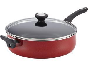 Farberware 5-qt. Nonstick New Traditions Speckled Jumbo Cooker with Helper Handle, Red