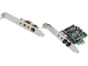 SYBA 7.1 Surround Sound, S/PDIF In/Out, Digital/Analog PCI-e Audio Card Model SD-PEX63081