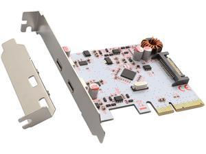 SYBA USB 3.1 10Gbps Type-C PCI-E Controller Card Model SD-PEX20200