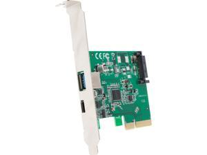 SYBA USB 3.1 10Gbps Type-A and Type-C PCI-E x4 Host Card Model SI-PEX20189