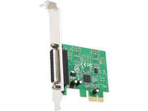 SYBA PCI-Express 2.0 x 1, 1-Port DB25 Parallel Printer (LPT1) Card Model SI-PEX10011